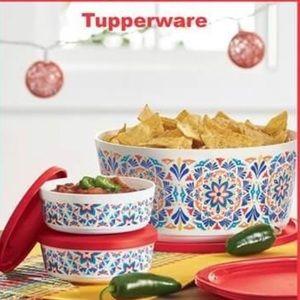 TUPPERWARE Costa Del Sol bowls & tumbler set